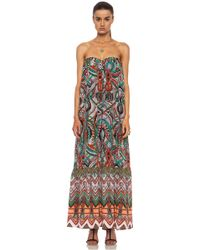 MSGM Rope Printed Silk Maxi Dress - Lyst