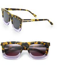 Karen Walker Deep Orchard 55Mm Square Sunglasses yellow - Lyst
