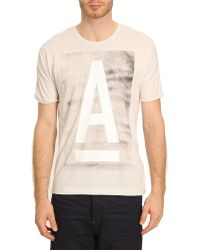 G-star Raw Abeloak Mottled White Print Tshirt - Lyst