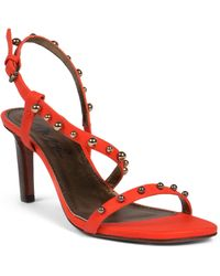 Lanvin Studded Leather Sandals - Lyst