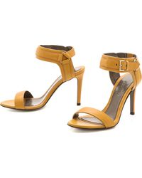 Jason Wu - Leather Buckle Sandals - Gold - Lyst