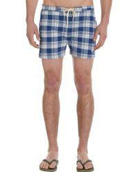 Gant Rugger - Plaid Board Shorts - Lyst