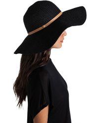b0db2d71672 Tigerlily - Shayna Floppy Hat in Black - Lyst