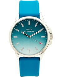 Juicy Couture Teal  Silver-tone Watch - Lyst