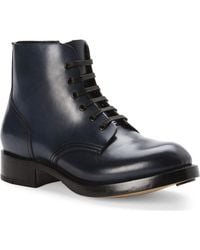 DSquared² Navy Leather Ankle Boots blue - Lyst