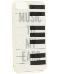 Kate Spade Piano Keys Iphone 5 5s Case Creamblack - Lyst