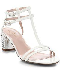Kate Spade Mercury Metallic-Heel Sandals - Lyst