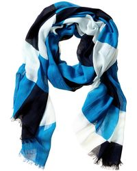 Banana Republic Becky Scarf Blue Multi - Lyst