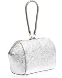 Alexander Wang - Chastity Metallic Leather Clutch - Lyst