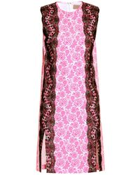 Christopher Kane Lace-trimmed Floral-print Dress - Lyst