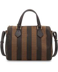 Fendi Pequin Stripe Small Boston Bag - Lyst