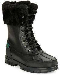 Lauren by Ralph Lauren | Quinta Shearling-lined Boots | Lyst