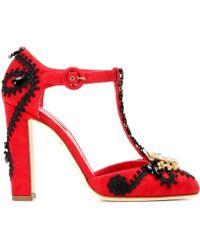 Dolce & Gabbana Embellished Brocade Pumps - Lyst