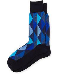 Punto - Geometric-Print Soft-Knit Socks - Lyst