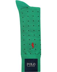Polo Ralph Lauren Mercerized Cotton Dot Socks - Lyst