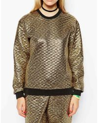 Jaded London - Embossed Metallic Sweatshirt - Lyst