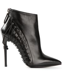 Gianmarco Lorenzi Zip Ankle Boots - Lyst