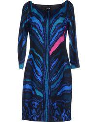 Just Cavalli Short Dress blue - Lyst