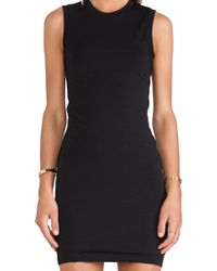T By Alexander Wang Mohair Twist Dress - Lyst