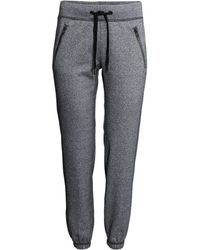 H&M Gray Sports Trousers - Lyst