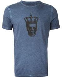 John Varvatos Skull Print T-Shirt - Lyst