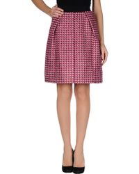 Marc Jacobs Knee Length Skirt purple - Lyst