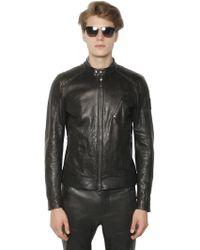 Belstaff K-Racer Tumbled Leather Moto Jacket - Lyst