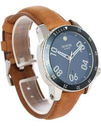 Nixon   Navy/sand Ranger Leather Watch   Lyst