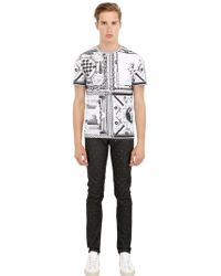 Anthony Vaccarello X Versus Versace Printed Cotton Tshirt - Lyst