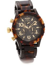 Nixon 4220 Chrono Watch  All Blacktortoise - Lyst