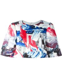 Prabal Gurung Marbled Paint Print Cropped Top - Lyst