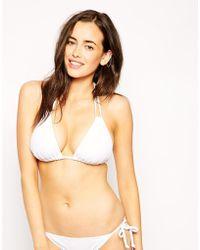 Asos Fuller Bust Exclusive Soft Triangle Bikini Top Dd-G - Lyst