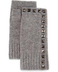 Neiman Marcus | Cashmere Studded Fingerless Gloves | Lyst