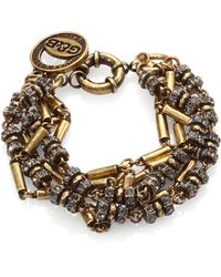 Giles & Brother Crystal Antiqued Multichain Bracelet - Lyst