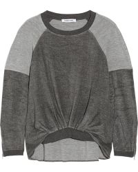 Elizabeth And James Alison Twotone Jersey Sweatshirt - Lyst