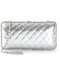 Chanel Quilted Clutch - Lyst