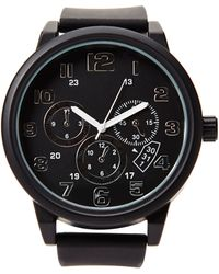 Forever 21 - Oversized Rubber Chronograph Watch - Lyst