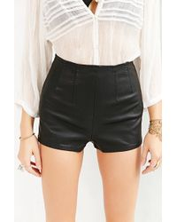 Pins And Needles Faux-leather Pin-up Short - Lyst
