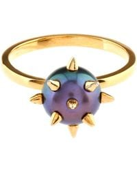 Nektar De Stagni - Peacock-Pearl And Gold-Plated Ring - Lyst