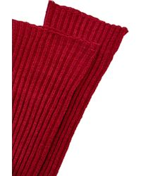 Oscar de la Renta - Bordeaux Wool Gloves - Lyst