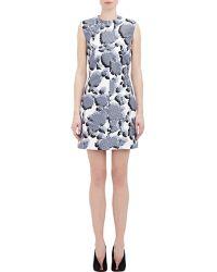 Balenciaga Pixel-Peony Mikado Dress - Lyst