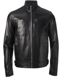 Dior Homme Funnl Neck Lambskin Jacket - Lyst