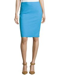 Lafayette 148 New York Slim-fit Crepe Pencil Skirt - Lyst