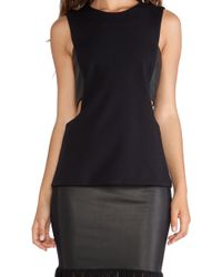 LaPina by David Helwani - Lapina Amber Cut-Out Tank - Lyst