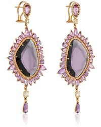 Sutra - Purple Sapphire Drop Earrings - Lyst