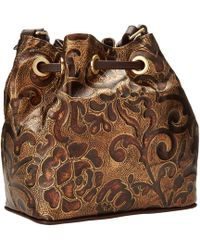 Brahmin Lexie Embossed Leather Drawstring Shoulder Bag - Lyst