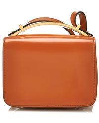 Marni Boxy Leather Cross-Body Bag - Lyst