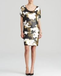 Michael by Michael Kors Sequin Camouflage Dress - Lyst