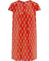 Issa Printed Silk Dress - Lyst