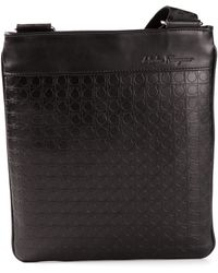 Ferragamo Logo Embossed Shoulder Bag - Lyst